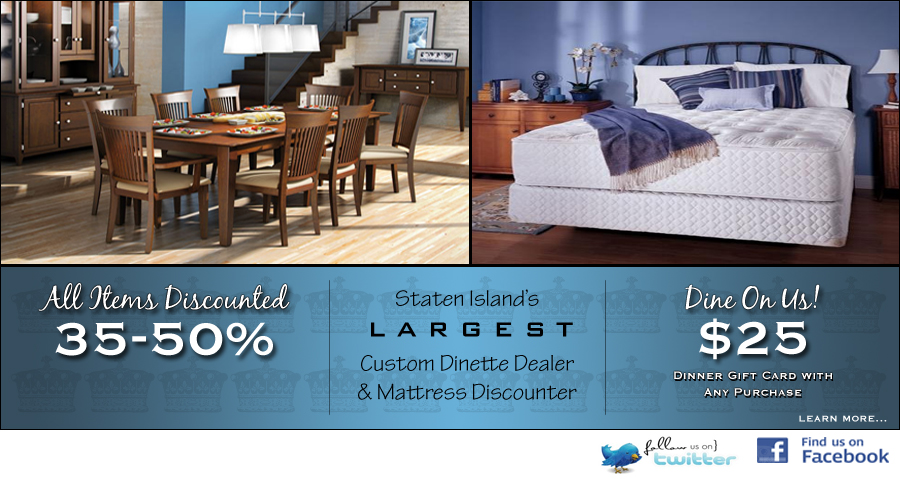 staten largest custom dinette dealer and mattress discounter